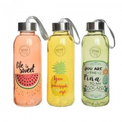 GL DRINKING BOTTLE W LID 3CLAS