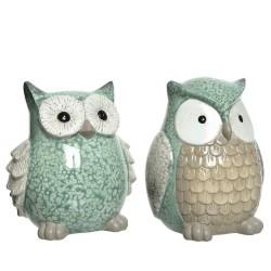 TERRACOTA OWL 2ASS 11.5x13x15